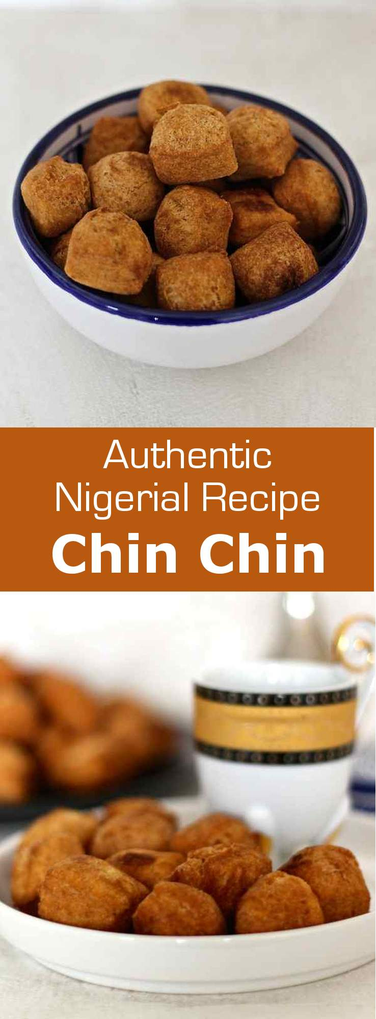 Chin chin are small fried snacks from West Africa, that are sweetened and flavored with nutmeg. #nigeria #africa #vegetarian #196flavors