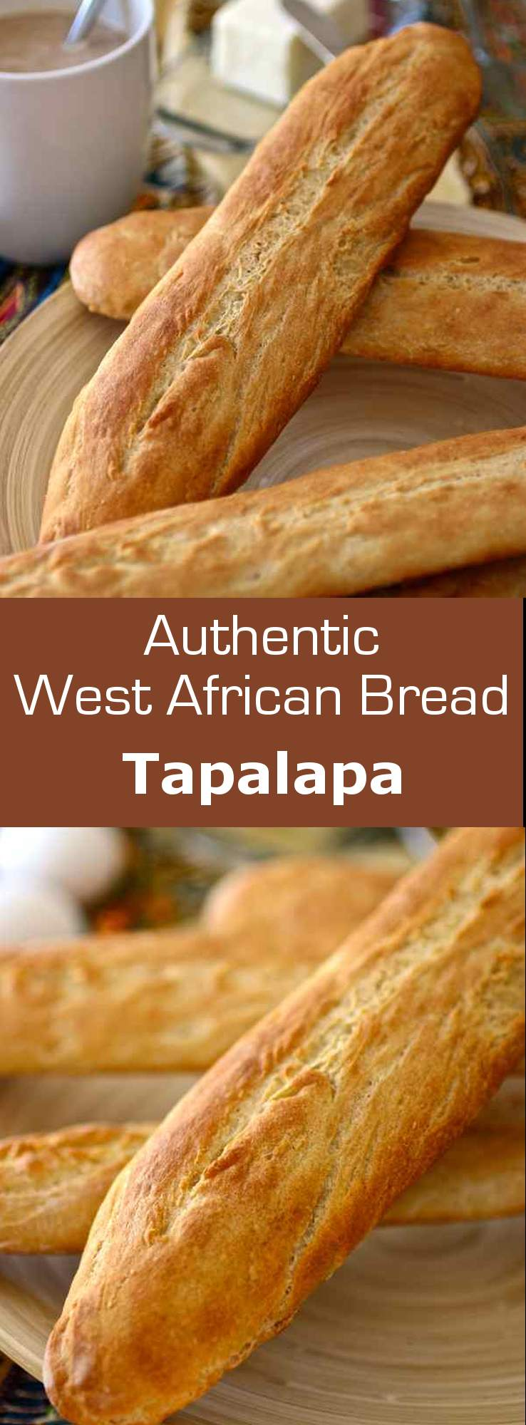 Tapalapa is a popular West African bread, similar to baguette, prepared with a mix of wheat, millet, maize and cowpea (niébé) flours. #gambia #senegal #guinea #africa #bread #196flavors