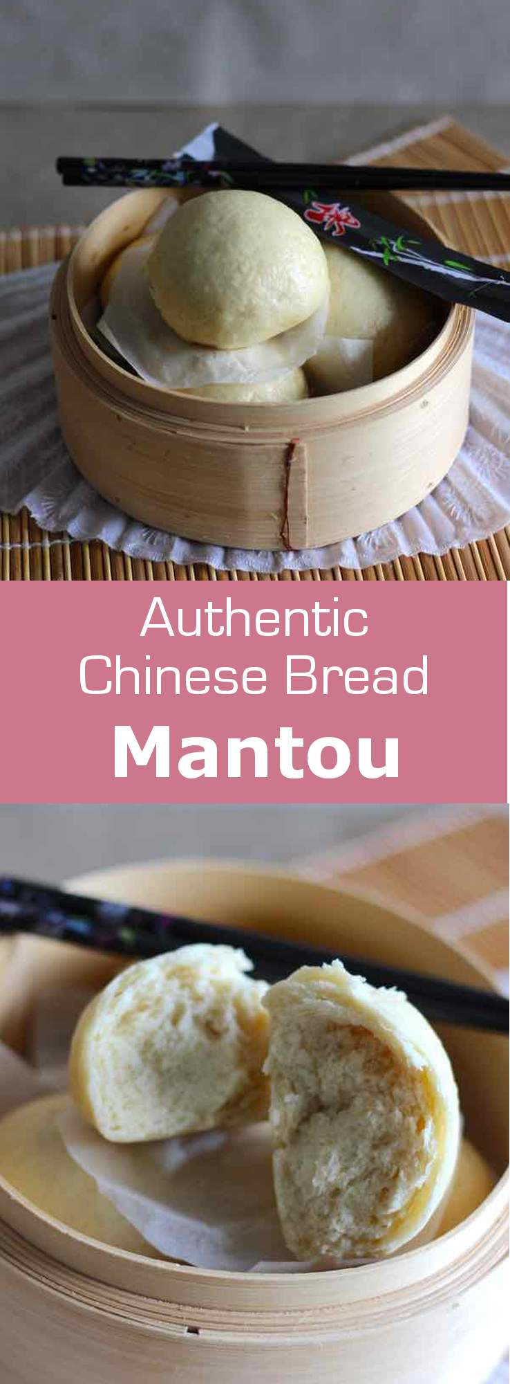 Mantou is a traditional Chinese steamed bun. It can be eaten plain or stuffed with pork meat or vegetables. #China #bread #196flavors