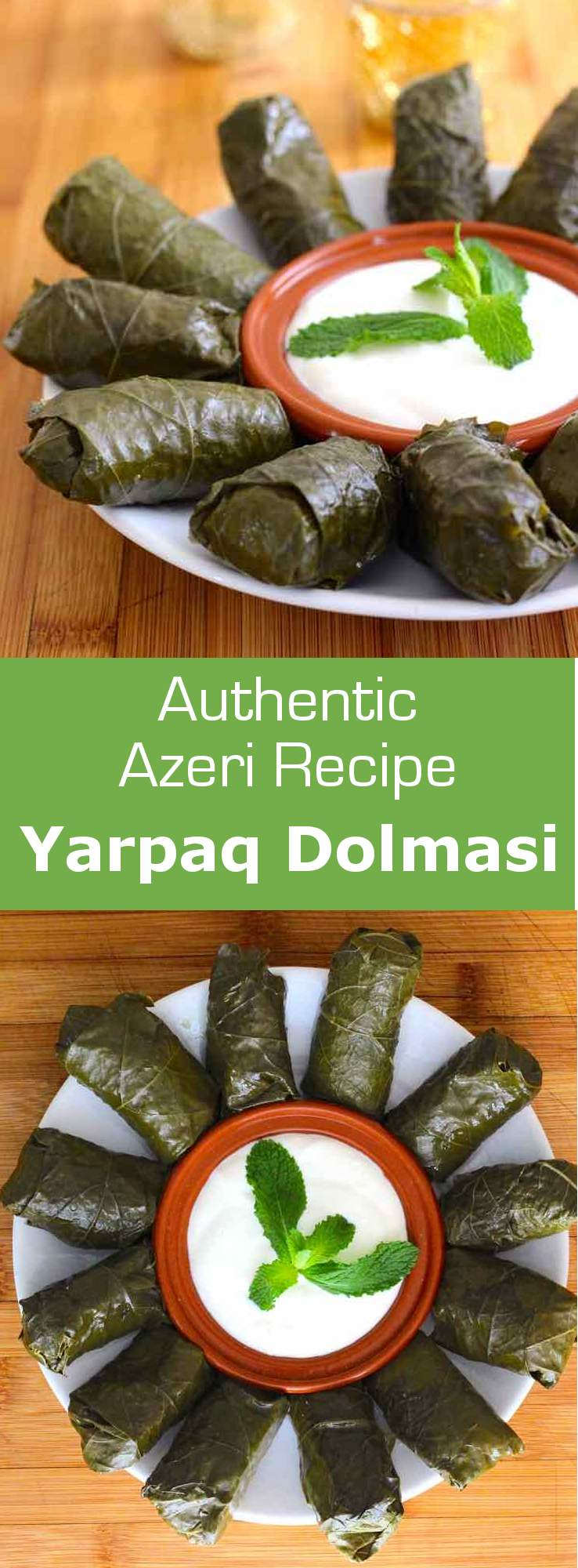 Dolma refers to a family of stuffed grape leaves or vegetables, widespread in the Middle East, Western Asia and Mediterranean regions. #Azerbaijan #MiddleEast #MiddleEastern #MiddleEasternRecipe #Mediterranean #MediterraneanRecipe #MediterraneanCuisine #WorldCuisine #196flavors