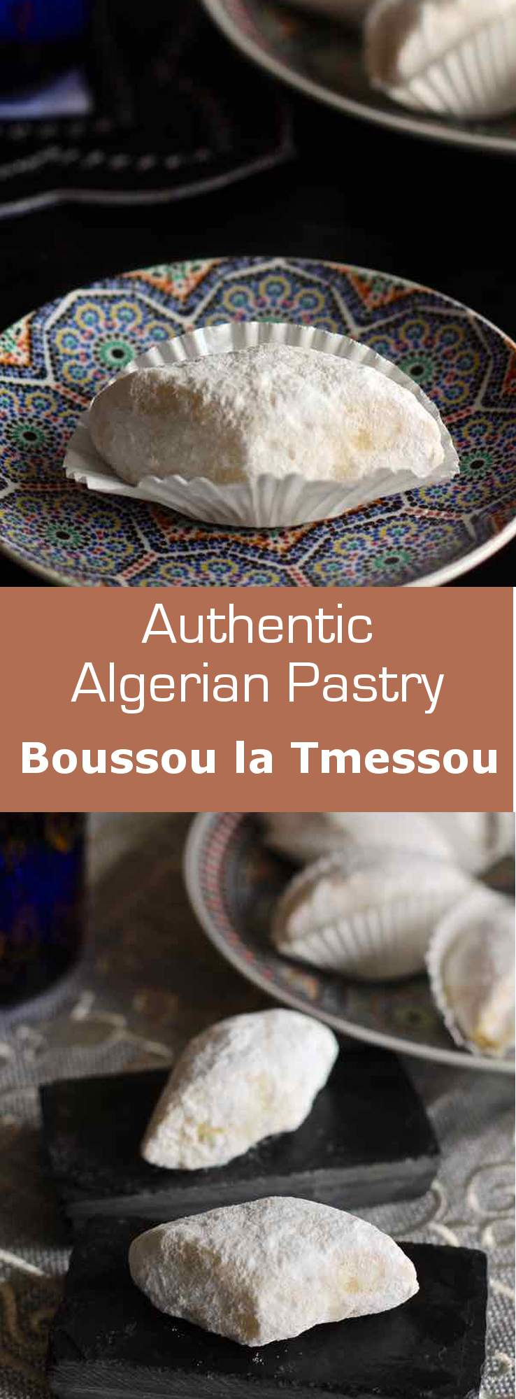 Boussou latemessou (kiss him but do not touch him) is a traditional Algerian pastry prepared with sesame seeds, lemon and orange blossom water. #algeria #pastry #196flavors