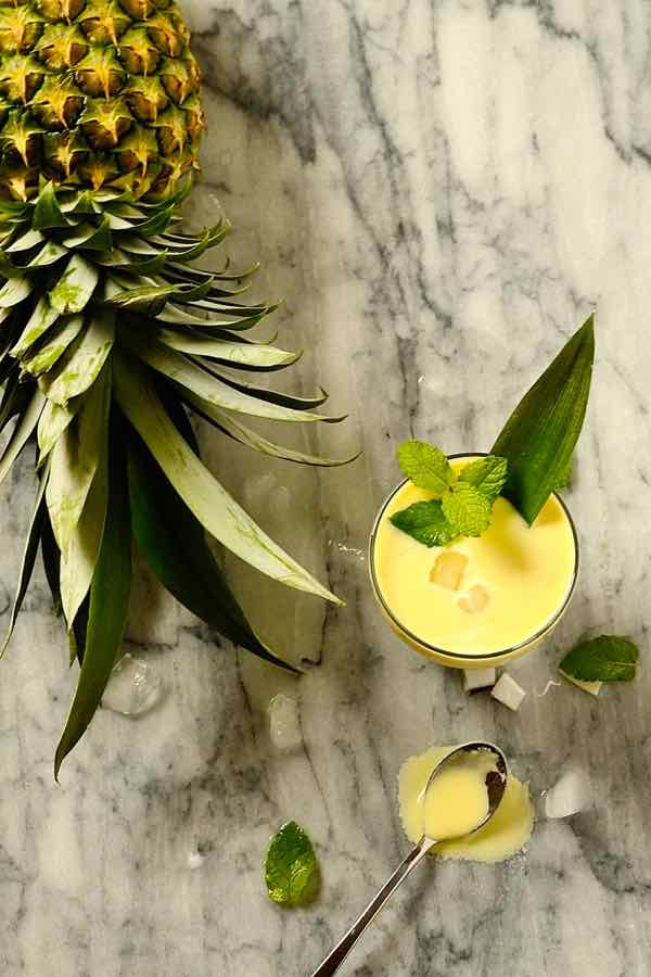 Batida de abacaxi com coco - Pineapple Coconut Cocktail