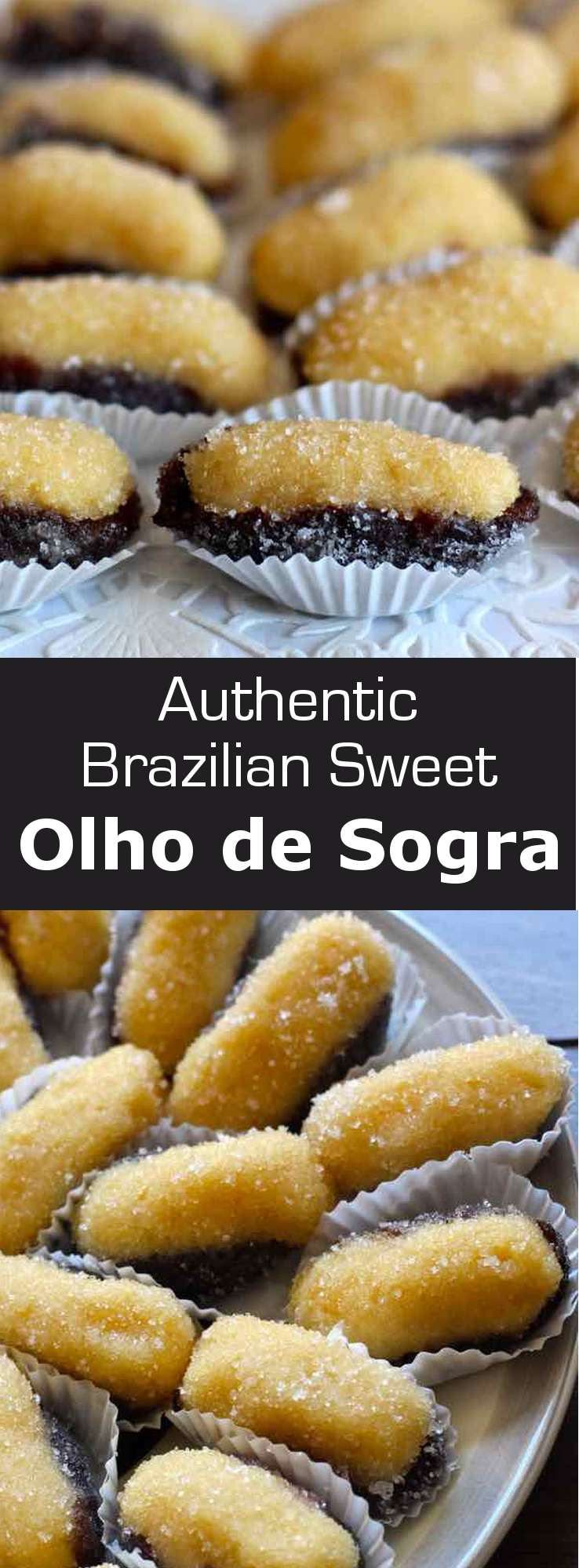Olho de Sogra is a famous Brazilian confectionery prepared with beijinho, a mixture of coconut and condensed milk, stuffed in a half prune. #dessert #Brazil #196flavors