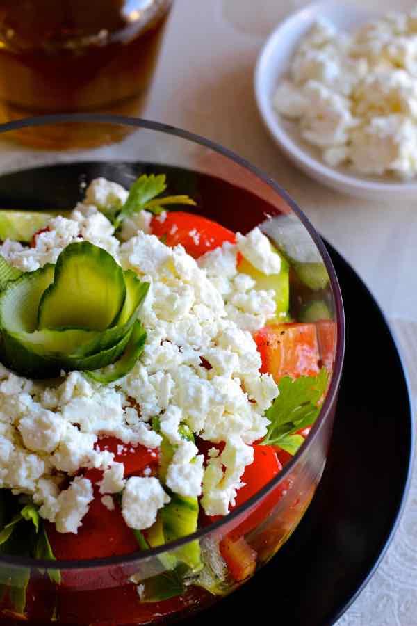 traditional shopska salad