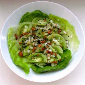 Burma: Green Tomato Salad