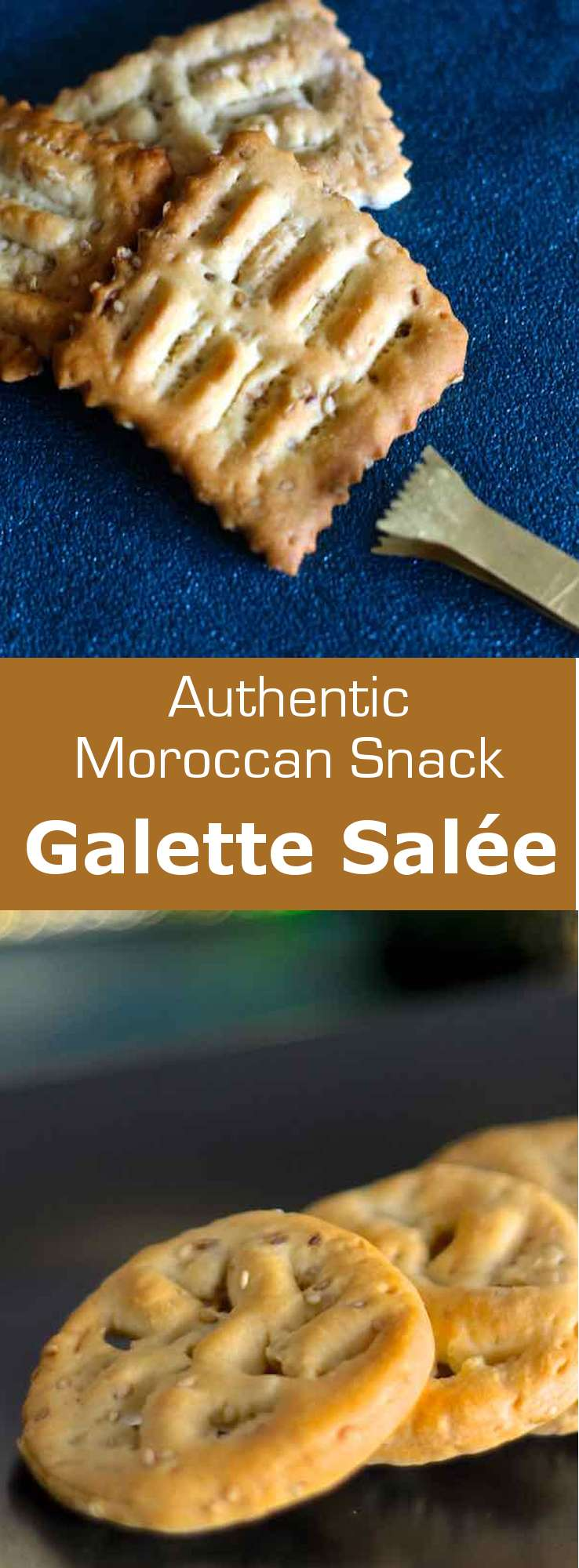 Galettes salées (savory crackers) are a Jewish recipe from Morocco. They are traditionally garnished with aniseed and sesame seeds. #Morocco #Moroccan #196flavors