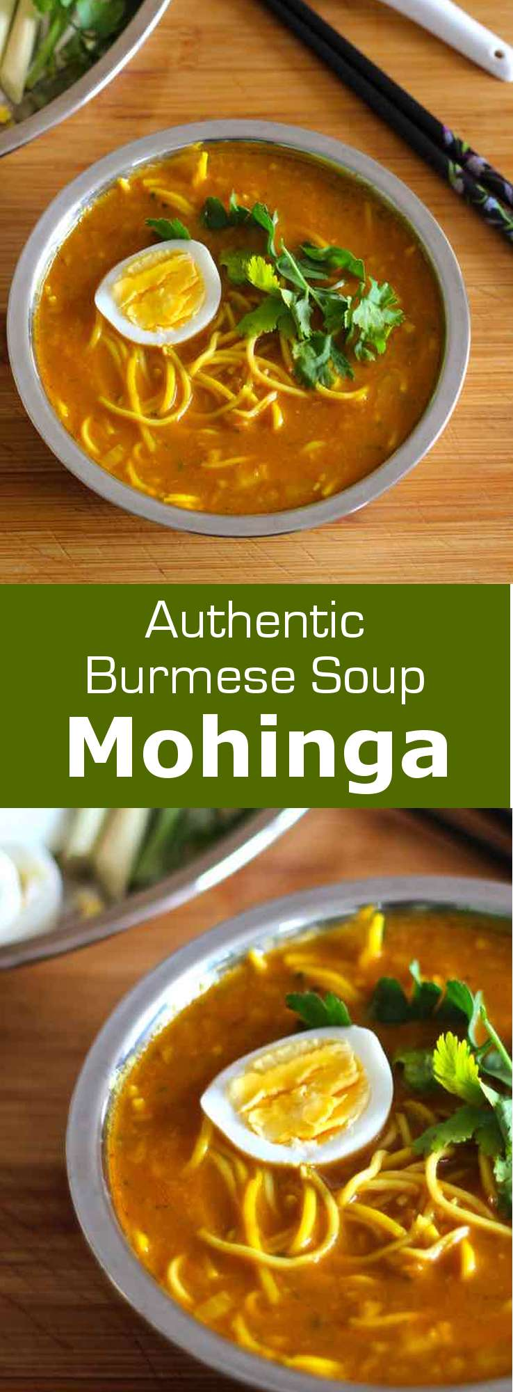 Mohinga is a fish-based soup prepared with rice noodles and flavored with lemongrass, which is considered as the national dish in Burma. #burma #myanmar #196flavors
