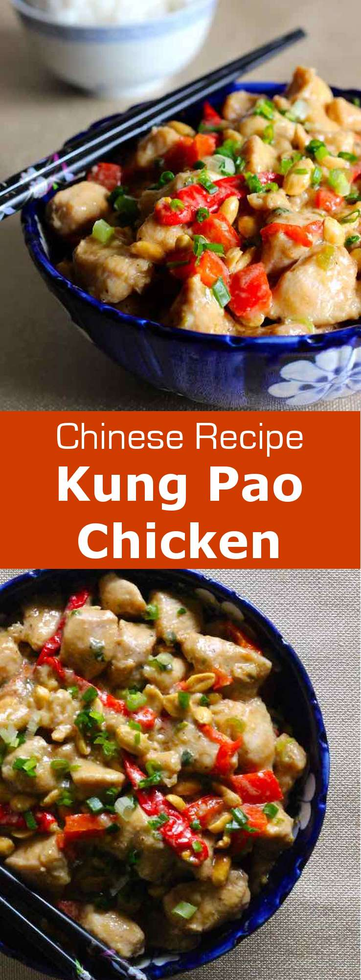 Kung Pao chicken is a deliciously spicy stir-fry dish that is prepared with chicken, peanuts, and chili peppers, to which vegetables are sometimes added. #ChineseRecipe #AsianRecipe #ChineseCuisine #AsianCuisine #WorldCuisine #196flavors