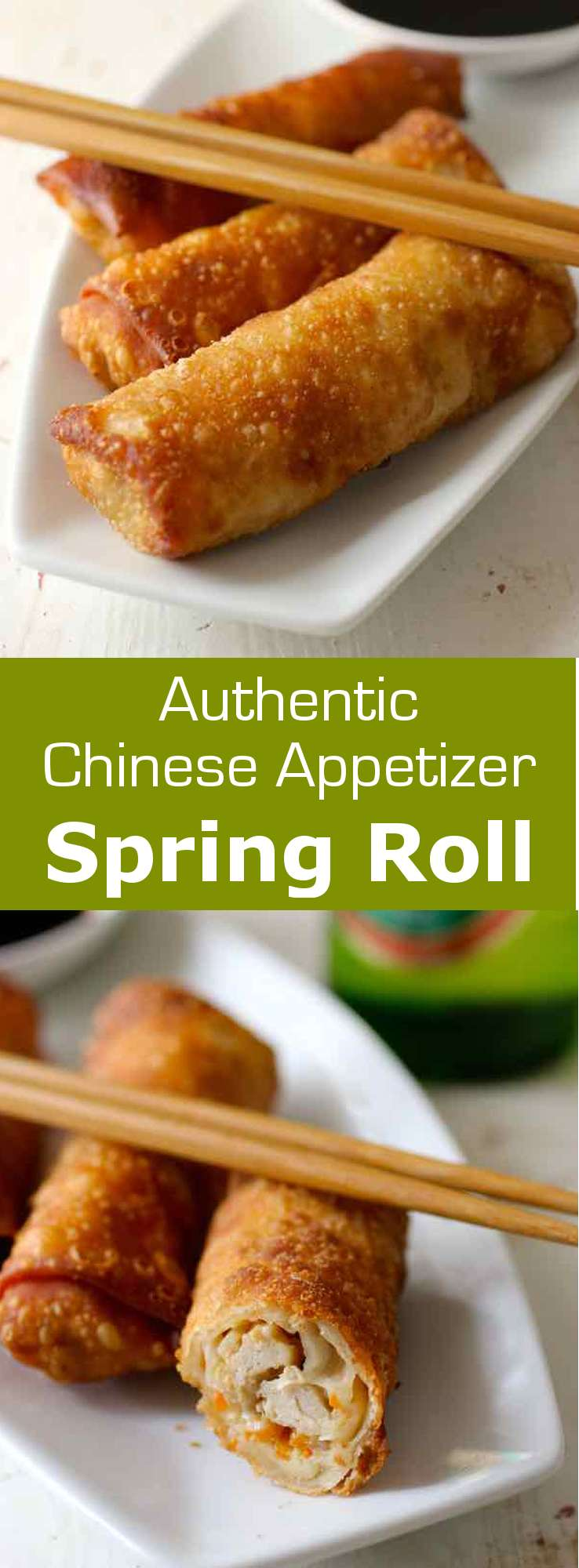 Spring rolls are traditional Southeast Asian appetizers that can be served non-fried or fried. The fried version is also known as egg rolls in the US. #Chinese #ChineseNewYear #196flavors