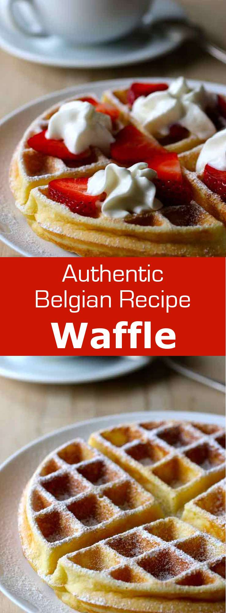 A waffle is a small crisp batter cake, originally from Belgium, that is traditionally baked between two iron plates with various patterns. #Belgian #Belgium #BelgianDessert #BelgianCuisine #BelgianRecipe #WorldCuisine #196flavors
