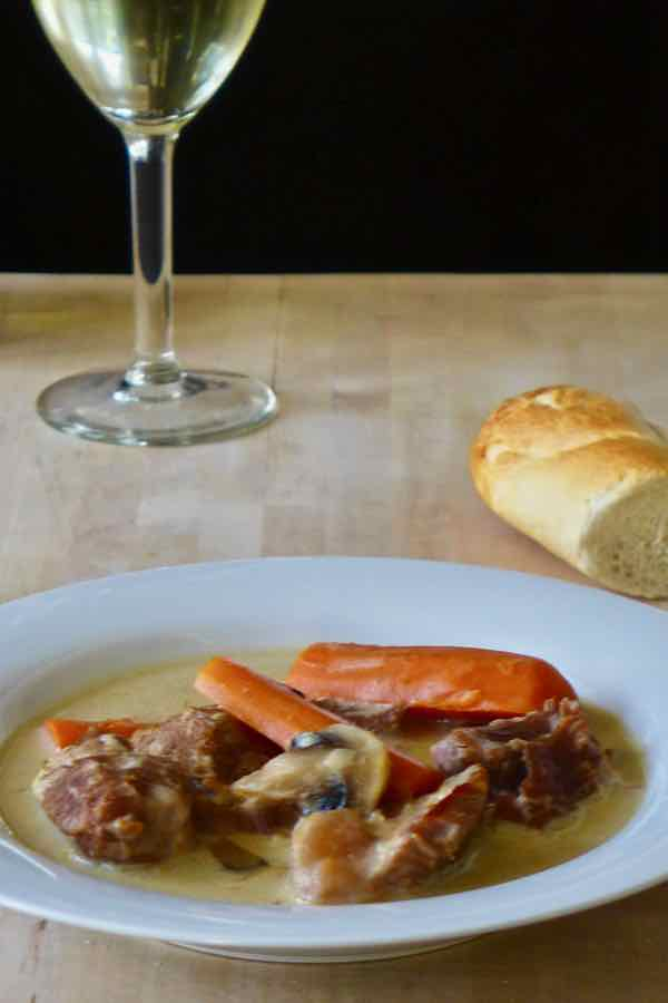 traditional blanquette de veau