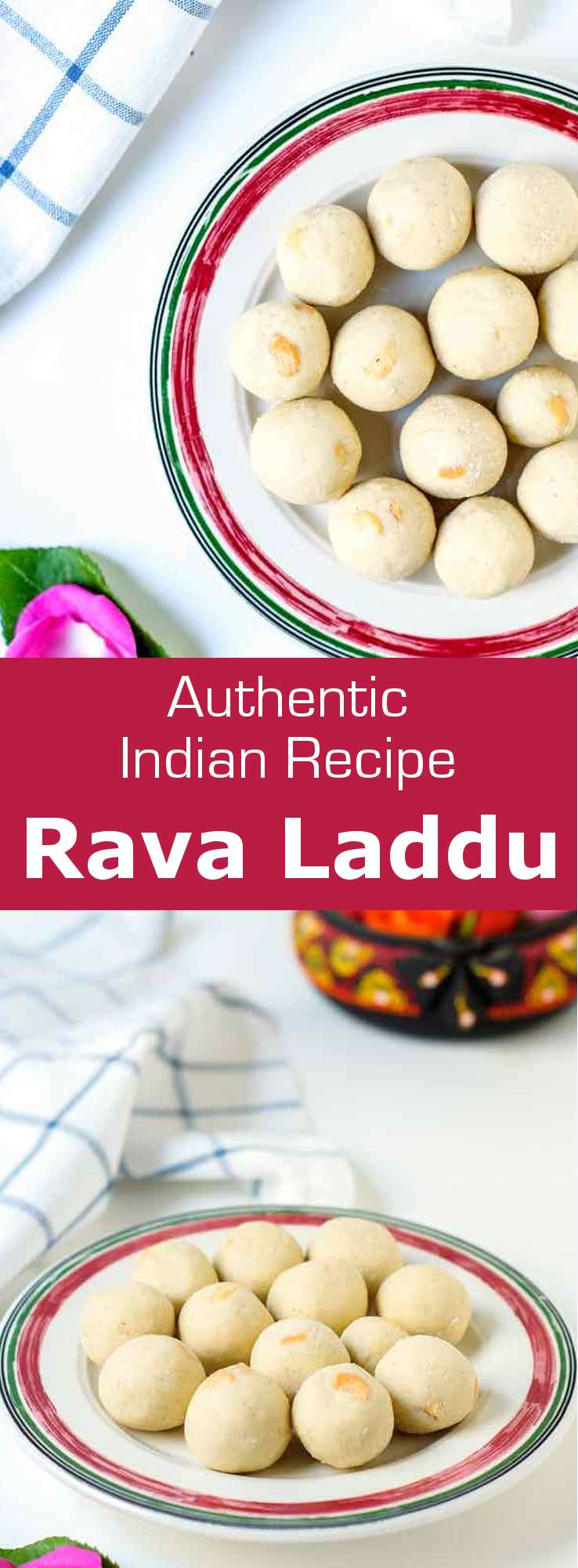 Rava laddu (rava ladoo) is a bite-sized, traditional Indian dessert with semolina, sugar & nuts. It is usually made during the festive season.