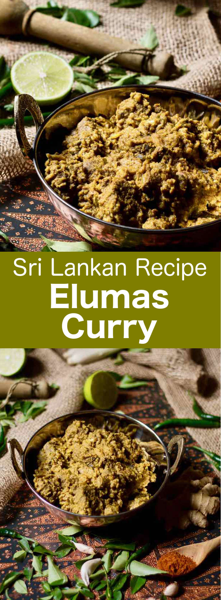 Elumas curry is a popular Sri Lankan mutton curry with complex and captivating flavors, which is prepared with coconut milk and a combination of spices and aromatics. #SriLanka #SriLankanCuisine #SriLankanCurry #SriLankanRecipe #WorldCuisine #196flavors