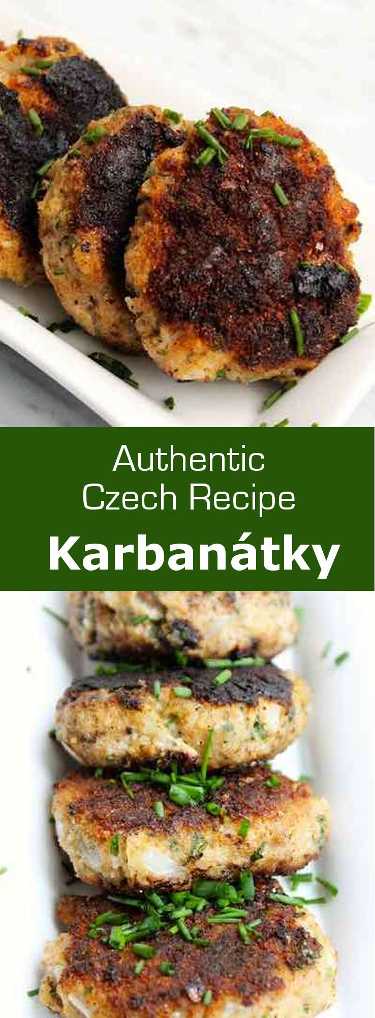 Karbanátky (singular: karbanátek) are delicious fried meat patties that are seasoned with marjoram and caraway seeds. In Czech, karbanátek means hamburger or meatball. #CzechRepublic #CzechCuisine #CzechRecipe #Meatballs #WorldCuisine #196flavors
