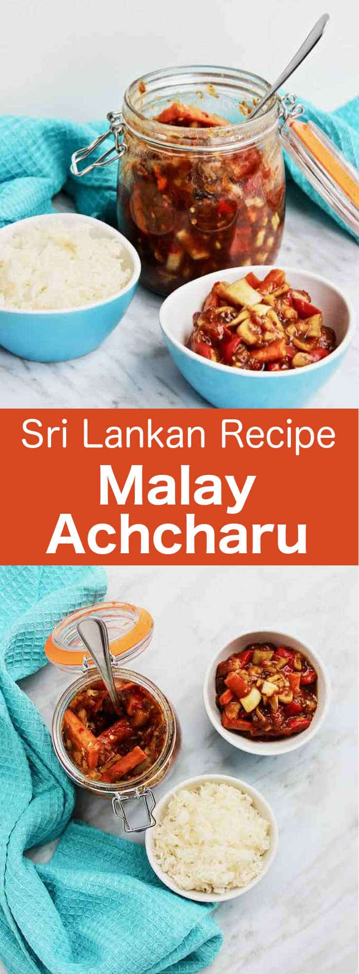 Malay achcharu, also known as Malay pickle, is a popular chutney from Sri Lanka. It is often served as an accompaniment to a rice main dish. #SriLanka #SriLankanCuisine #SriLankanChutney #SriLankanRecipe #WorldCuisine #196flavors