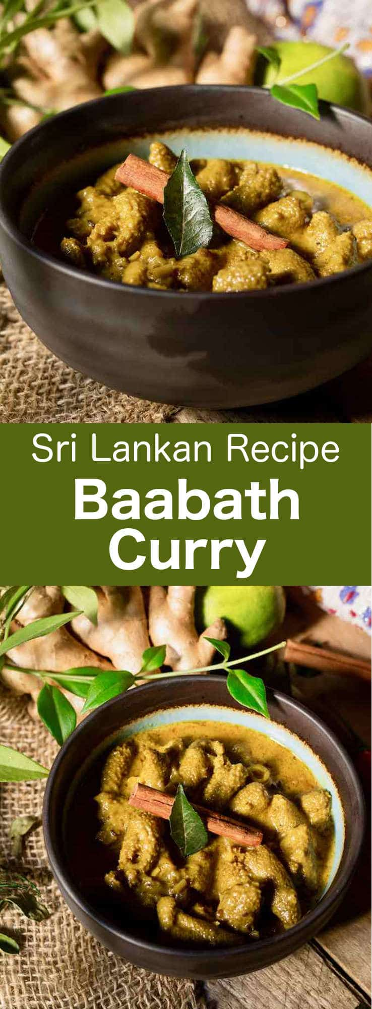 Baabath curry is a delicious traditional Sri Lankan tripe curry, prepared with coconut, lemongrass and various fragrant spices. #SriLanka #SriLankanCuisine #SriLankanCurry #SriLankanRecipe #WorldCuisine #196flavors