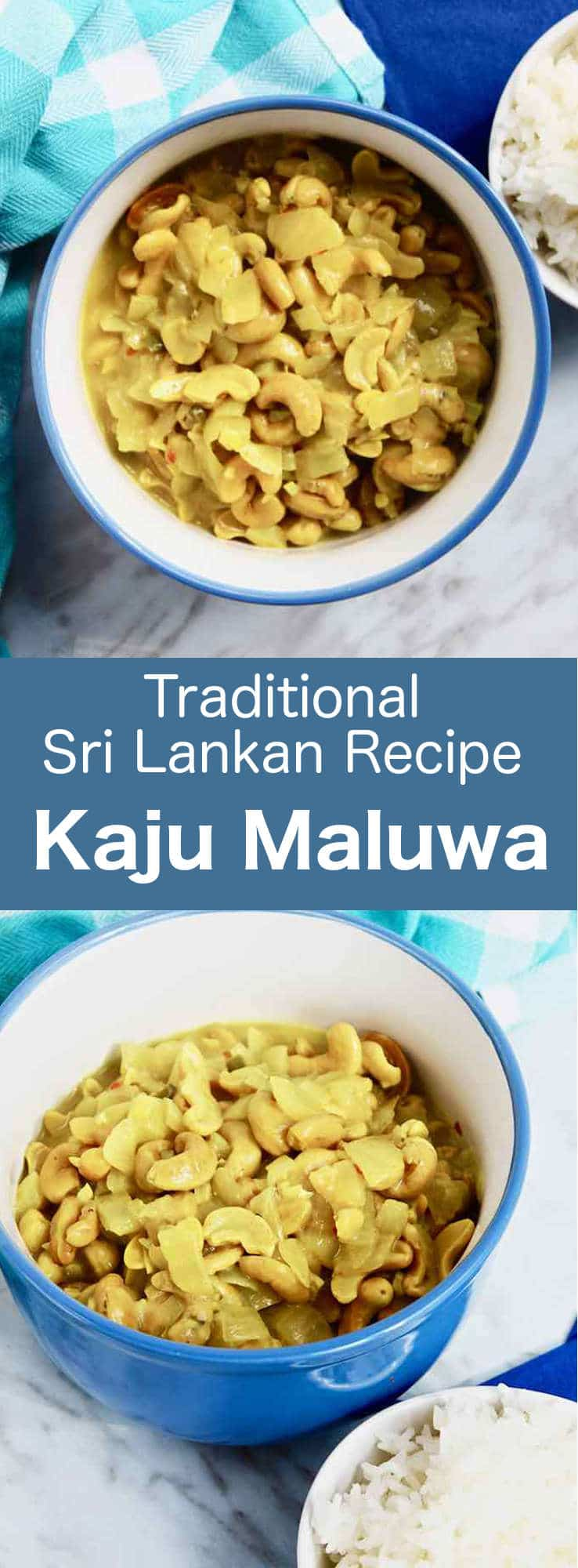 Kaju maluwa (cashew curry) is a traditional Sri Lankan recipe that is prepared with soaked cashew nuts cooked in coconut milk with various aromatic spices and herbs. #SriLanka #SriLankanCuisine #SriLankanCurry #SriLankanRecipe #WorldCuisine #196flavors