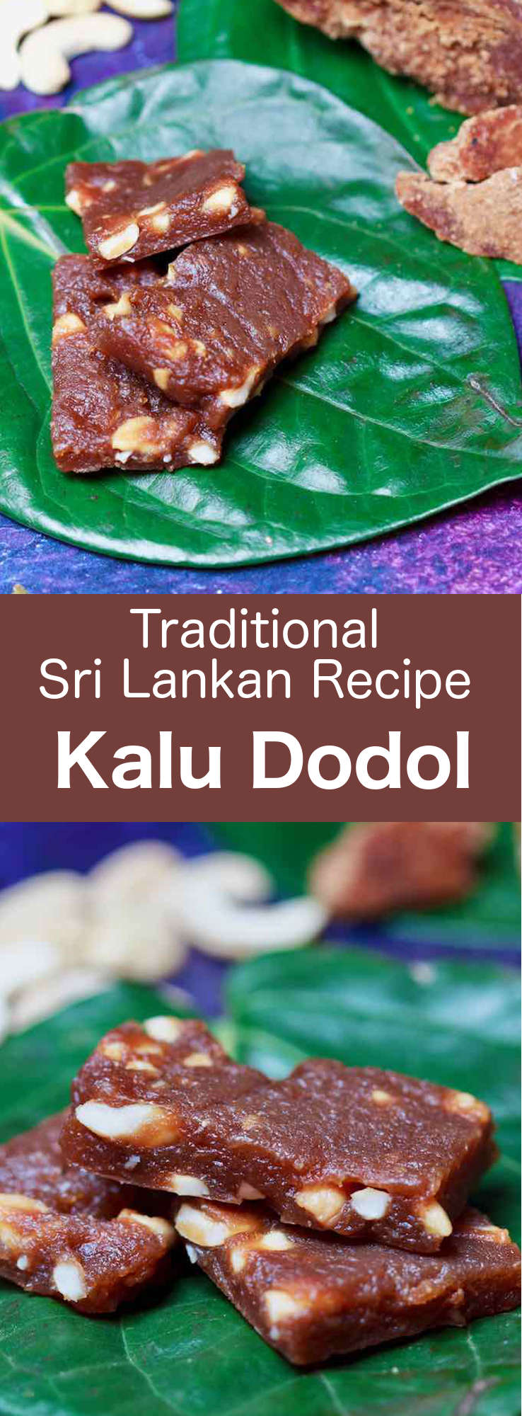 Kalu dodol is a dark, almost gel-like candy, made from jaggery, coconut milk, and rice flour, which is said to have been brought to Sri Lanka by immigrants from Malaysia. #SriLanka #SriLankanCuisine #SriLankanDessert #Dessert #DessertRecipe #SriLankanRecipe #WorldCuisine #196flavors