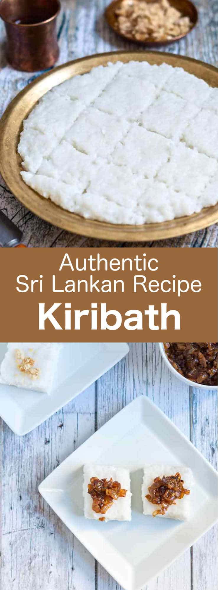 Kiribath is a classic Sri Lankan dish shaped as a cake, made of rice and coconut milk. It is a celebratory treat for all special occasions and is also a traditional Sri Lankan breakfast. #SriLanka #SriLankanCuisine #SriLankanDessert #SriLankanSnack #SriLankanRecipe #RiceMilk #MilkRice #WorldCuisine #196flavors