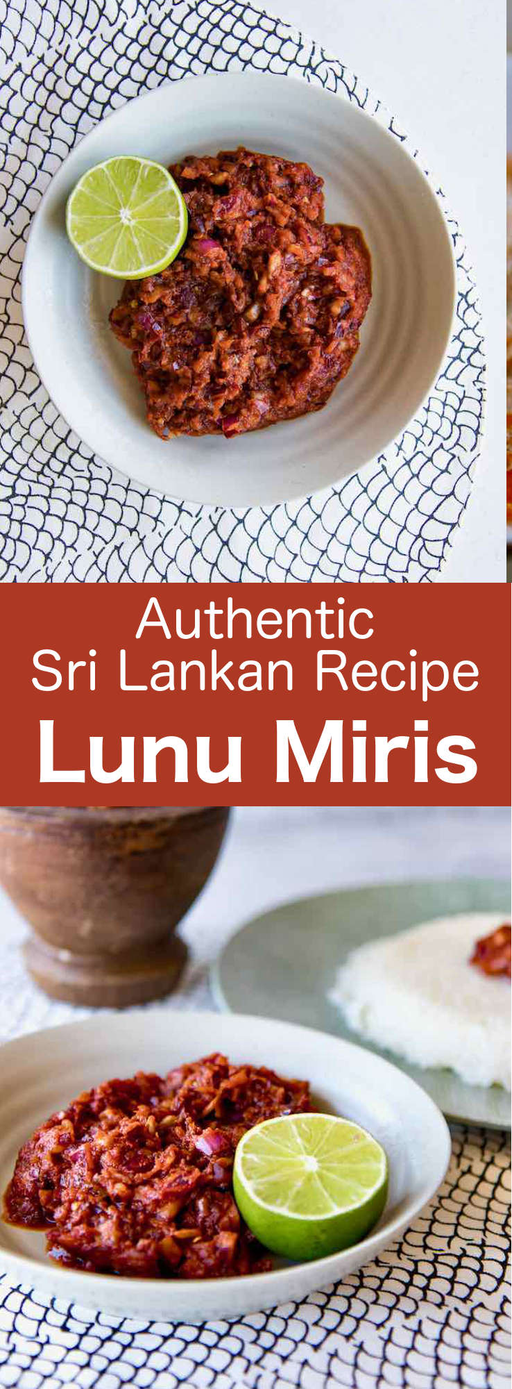 Lunu miris is a spicy sauce or sambol paste, from Sri Lanka that is primarily prepared with red onion and chili. It is most commonly served as a paste or topping for many traditional Sri Lankan dishes. #SriLanka #SriLankanCuisine #SriLankanChutney #SriLankanRecipe #WorldCuisine #196flavors