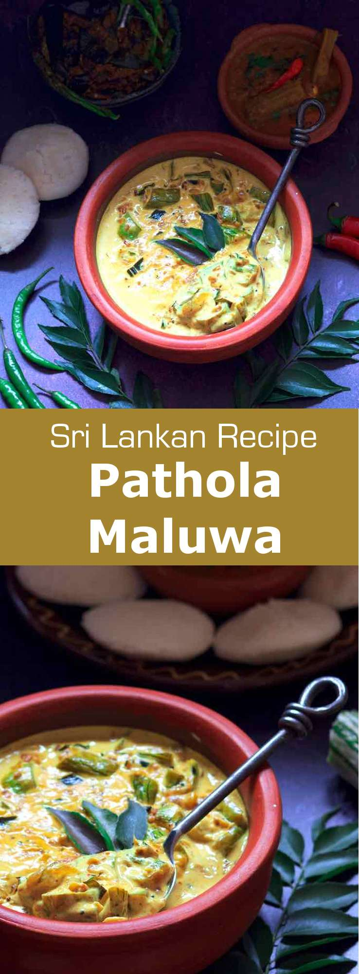 Fragrant and creamy, with a very slightly bitter edge, pathola maluwa (snake gourd curry) is one of Sri Lanka's less fiery dishes, yet is no less delicious than its spicier counterparts. #SriLanka #SriLankanCuisine #SriLankanCurry #SriLankanRecipe #WorldCuisine #196flavors