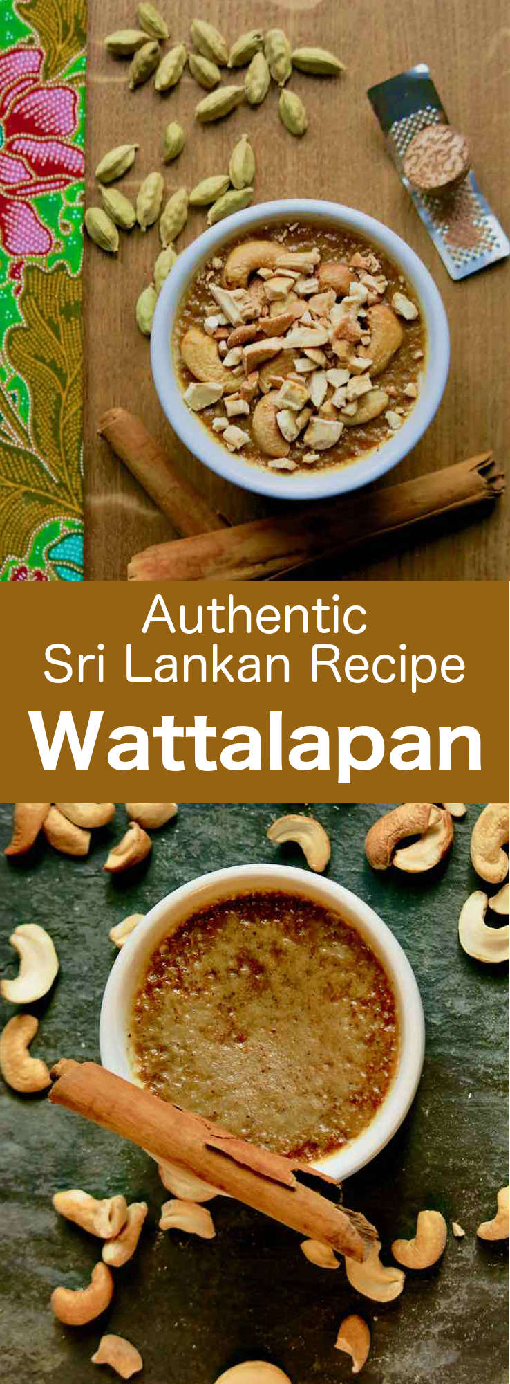 Wattalapan, one of the most popular desserts of Sri Lanka, is a sort of relatively dense flan with an incredibly silky texture, whose scents reflect the exoticism and cultural blend of this island. #SriLanka #SriLankanCuisine #SriLankanDessert #Dessert #DessertRecipe #SriLankanRecipe #WorldCuisine #196flavors
