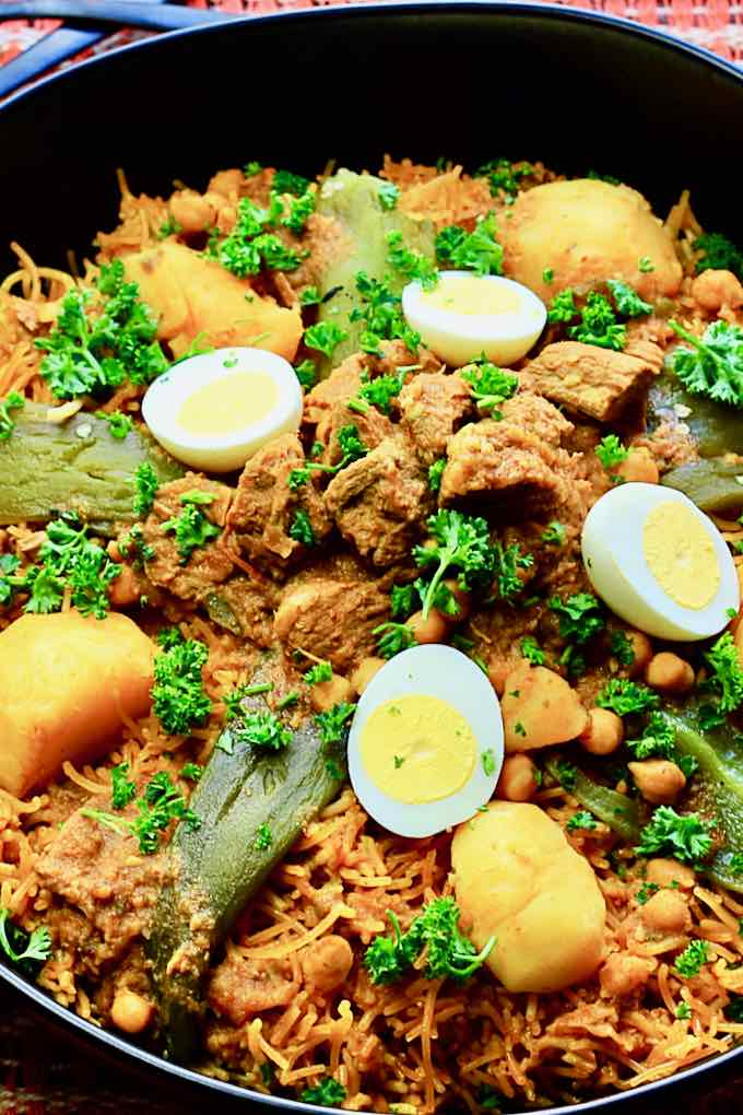 Tunisian steamed vermicelli