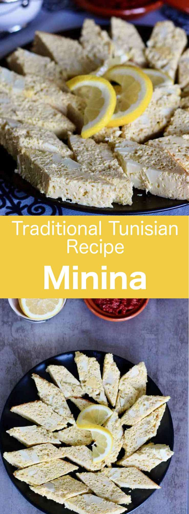 Minina is a delicious thick chicken omelette that is one of the greatest classic recipes of Tunisian and North African Jewish cuisine. #Tunisia #Tunisian #TunisianCuisine #TunisianRecipe #NorthAfricanCuisine #NorthAfricanRecipe #NorthAfrica #Maghreb #MaghrebCuisine #WorldCuisine #196flavors