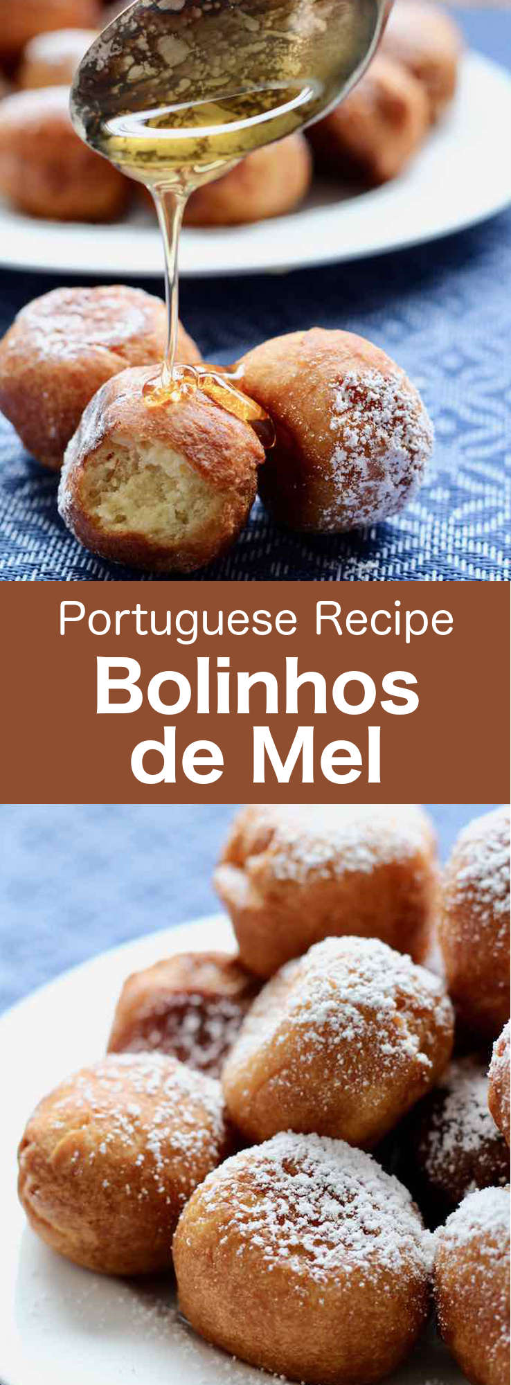 Bolinhos de mel (also called pasteis de mel) are delicious little Portuguese honey beignets, traditionally flavored with cinnamon, clove and lemon. #Portugal #PortugueseRecipe #donut #beignet #WorldCuisine #196flavors