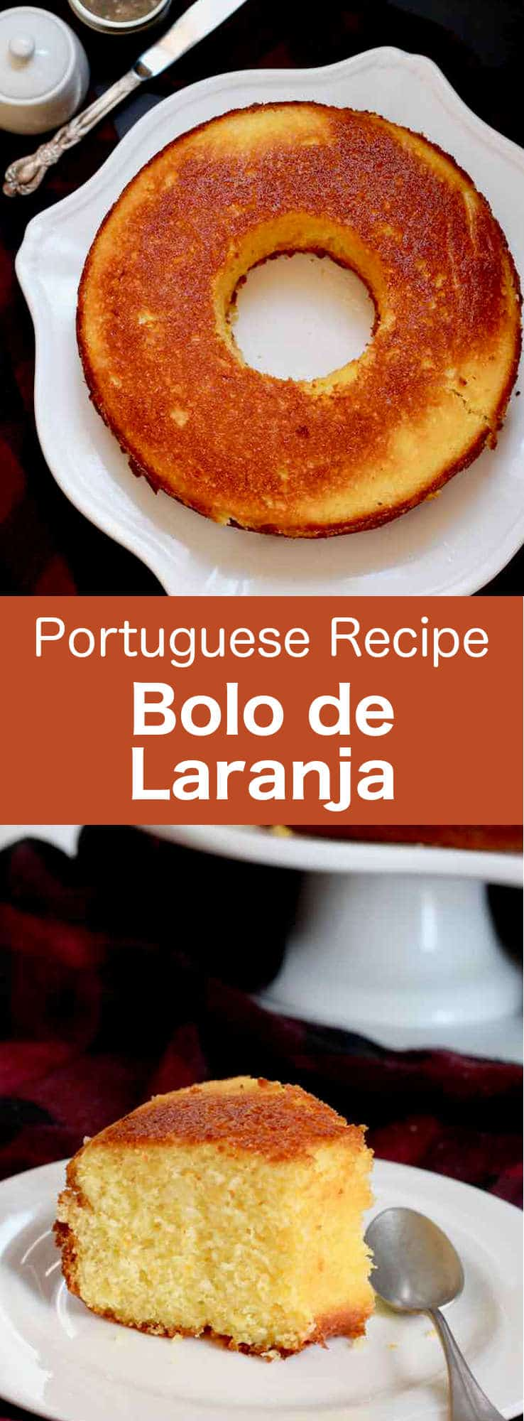Bolo de laranja is a traditional Portuguese pound cake prepared with orange zest. The cake is soaked with a syrup made from orange juice before being served. #Portugal #PortugueseRecipe #Dessert Cake #WorldCuisine #196flavors