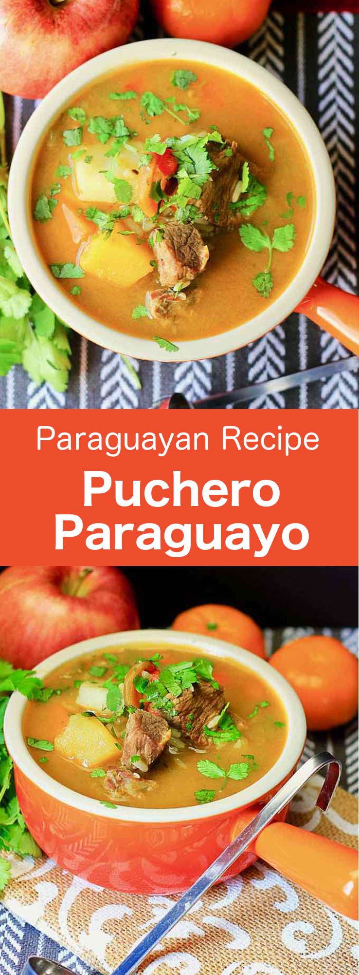 Puchero paraguayo is the Paraguayan version of a traditional meat stew that is originally from Spain, and now prepared in several countries throughout South America and the Philippines. The name comes from the Spanish word, which means