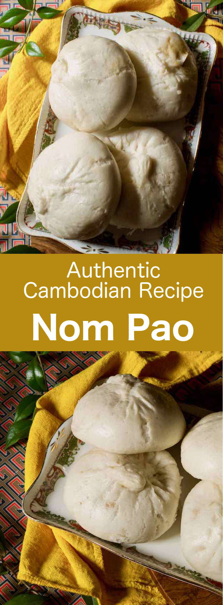 Nom pao are delicious little buns stuffed with a filling that is usually composed of meat, before being steamed. They are popular in Cambodia, as well as in the rest of South East Asia under different names. #Cambodian #CambodianRecipe #CambodianCuisine #AsianCuisine #AsianRecipe #WorldCuisine #196flavors