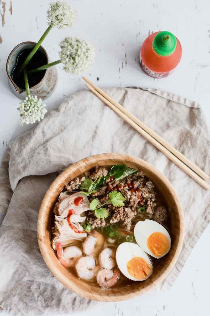 Sopa de fideos de Camboya