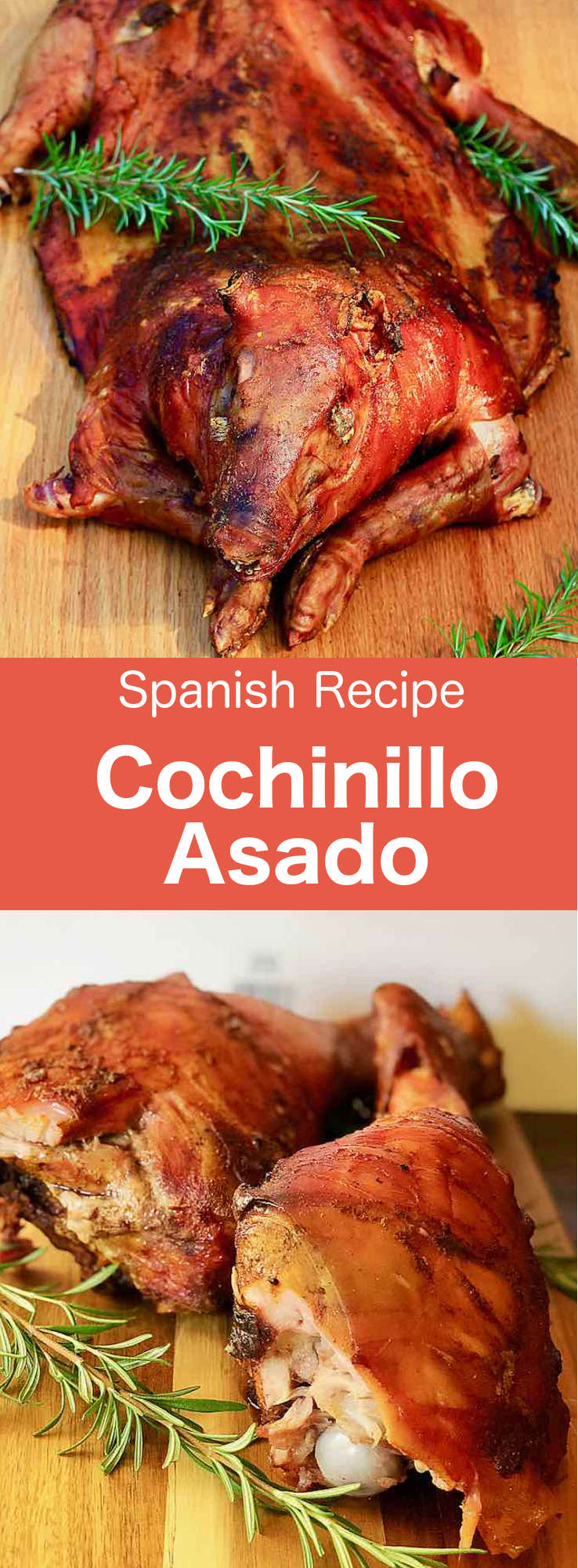 Cochinillo asado (tostón asado) or roast suckling pig, is one of the most typical dishes in the cuisine of Castilla, Spain. #SpanishCuisine #Spain #SpanishRecipe #SpanishFood #WorldCuisine #196flavors