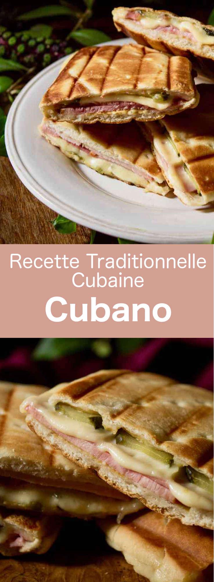 Le cubano est un sandwich préssé avec du porc rôti, du jambon, et du fromage, popularisé par les immigrants cubains en Floride au XIXe siècle. #Cuba #CuisineCubaine #RecetteCubaine #RecetteDesCaraibes #CuisineDuMonde #196flavors
