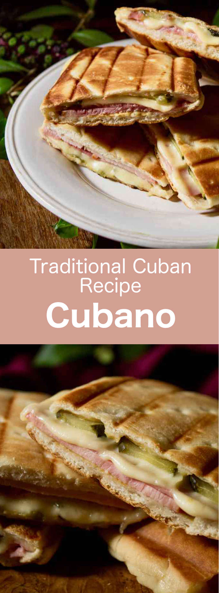 Cubano is a pressed sandwich with roast pork, ham, pickles and cheese, popularized by Cuban immigrants in Florida in the nineteenth century. #Cuba #CubanCuisine #CubanRecipe #CubanFood #Caribbean #CaribbeanCuisine #CaribbeanRecipe #CaribbeanFood #WorldCuisine #196flavors