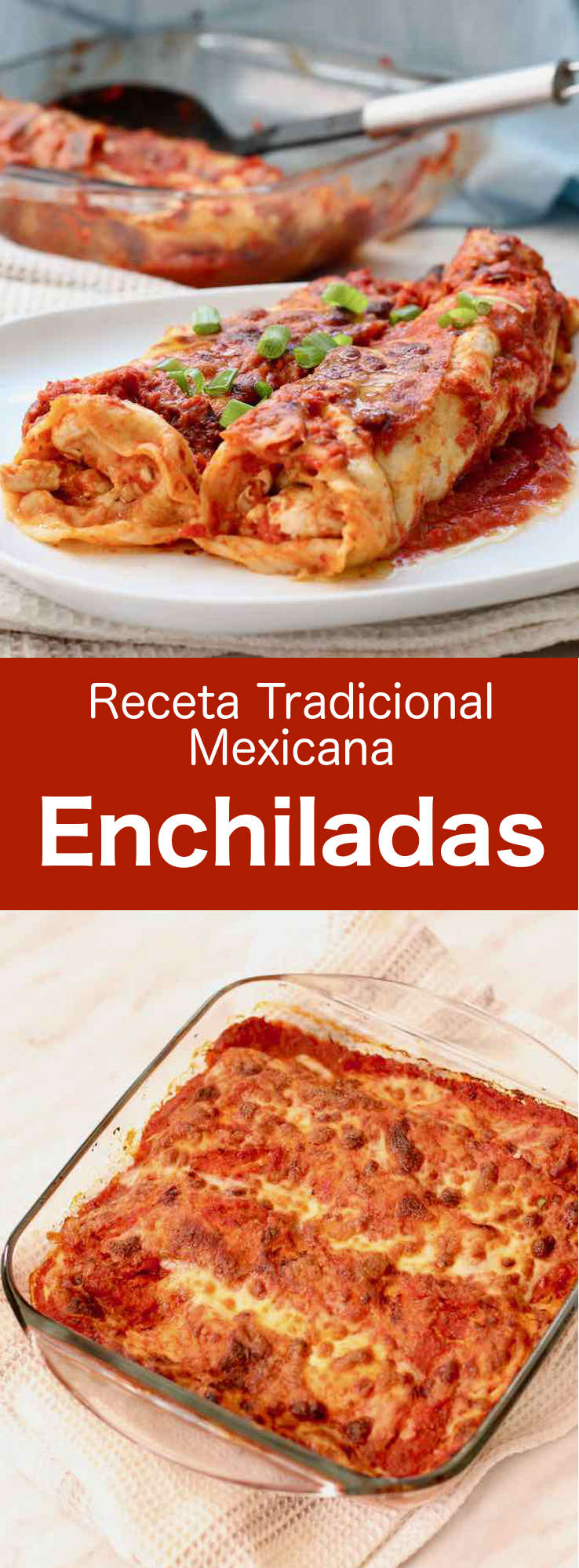 Las enchiladas son tortillas de maíz enrolladas que se rellenan con carne, queso, frijoles o patatas antes de cubrirlas con una salsa de chiles.