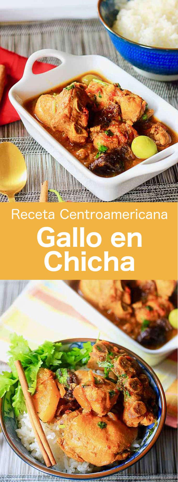 El gallo en chicha es un plato tradicional de pollo que es popular en El Salvador, así como en otros países de América Central, como en Guatemala.