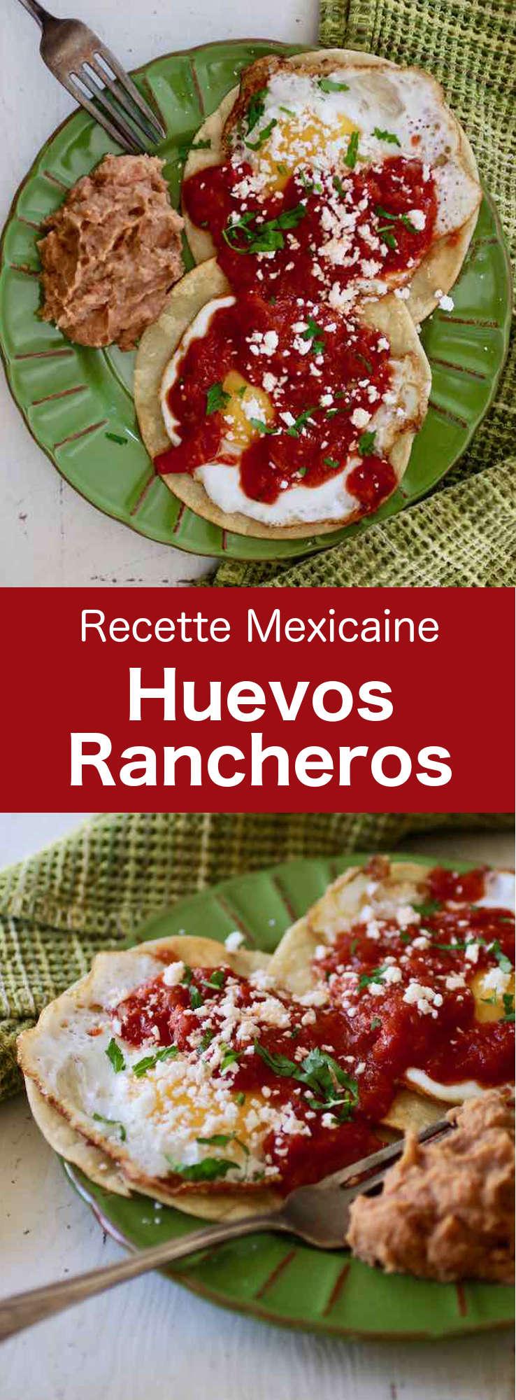 Les huevos rancheros (œufs façon ranch) sont une véritable institution mexicaine et un repas complet de petit-déjeuner à base d'oeufs et de tomates. #Mexique #RecetteMexicaine #PetitDejeuner #CuisineDuMonde #196flavors