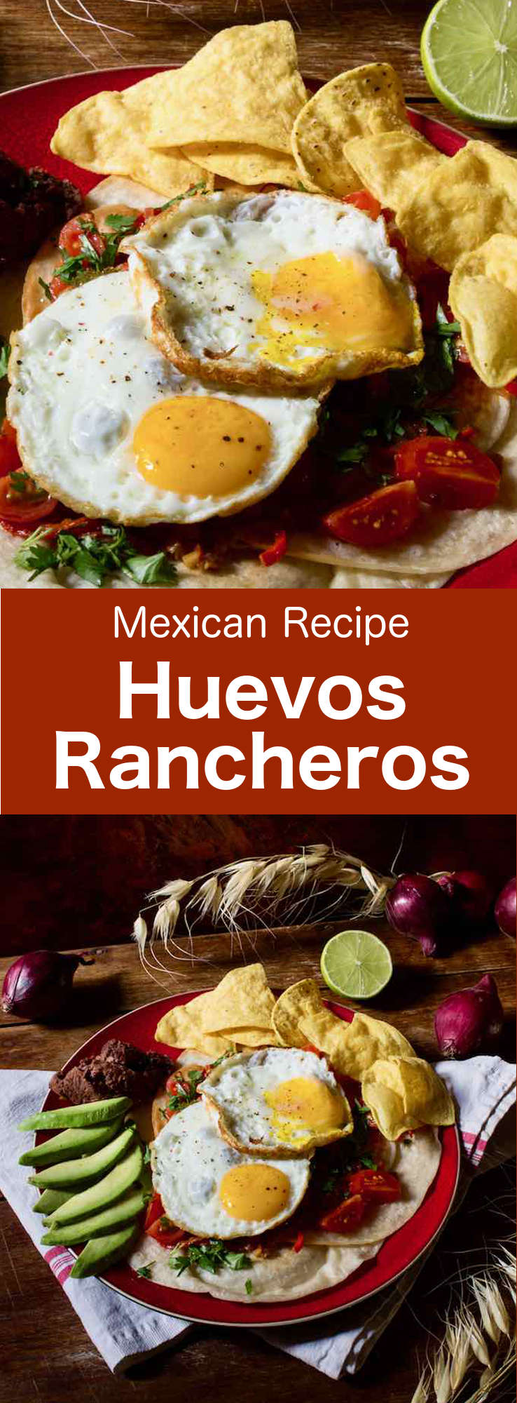Huevos rancheros or ranch-style eggs are a true Mexican institution and a complete meal with eggs and tomatoes that is mainly served at breakfast. #Mexican #MexicanFood #MexicanCuisine #MexicanRecipe #MexicanBreakfast #MexicanEggs #WorldCuisine #196flavors