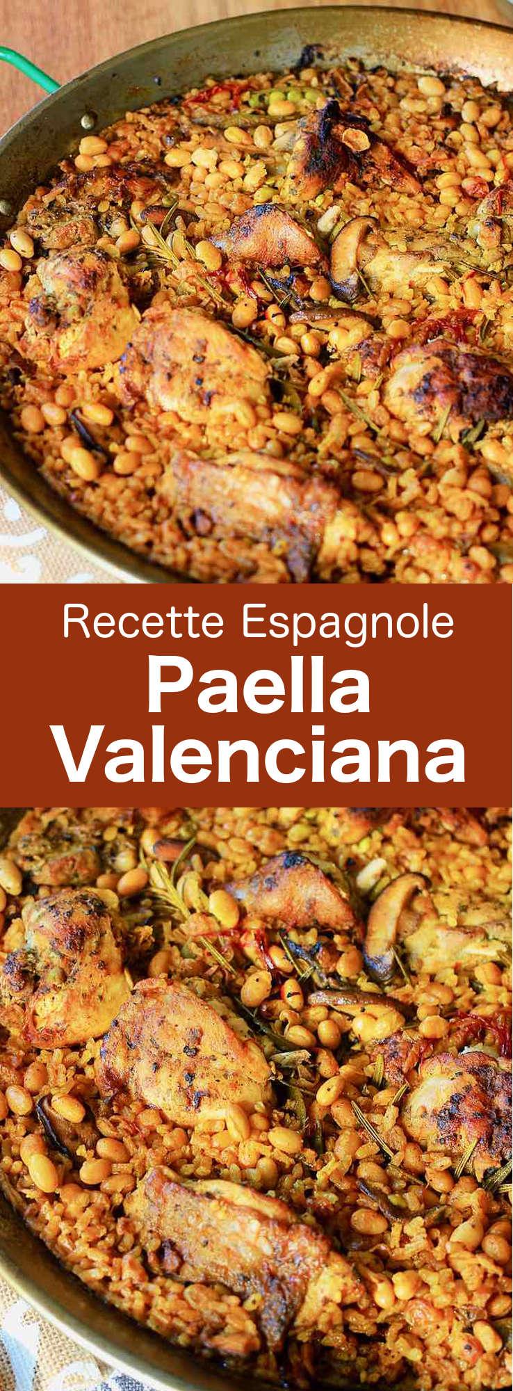 La paella valenciana est le délicieux plat de riz espagnol qui a ses racines modernes au milieu du XIXe siècle sur la côte est du pays. #Espagne #CuisineEspagnole #RecetteEspagnole #CuisineDuMonde #196flavors