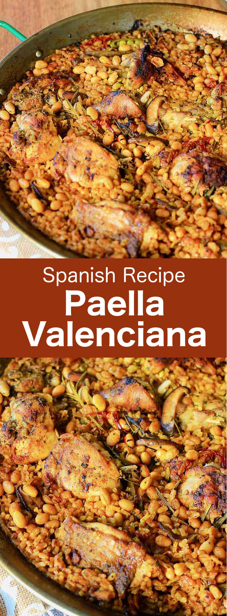 Paella Valenciana is the original Spanish rice dish that traces its modern roots in the mid-19th century on the east coast of Spain. #SpanishCuisine #Spain #SpanishRecipe #SpanishFood #WorldCuisine #196flavors