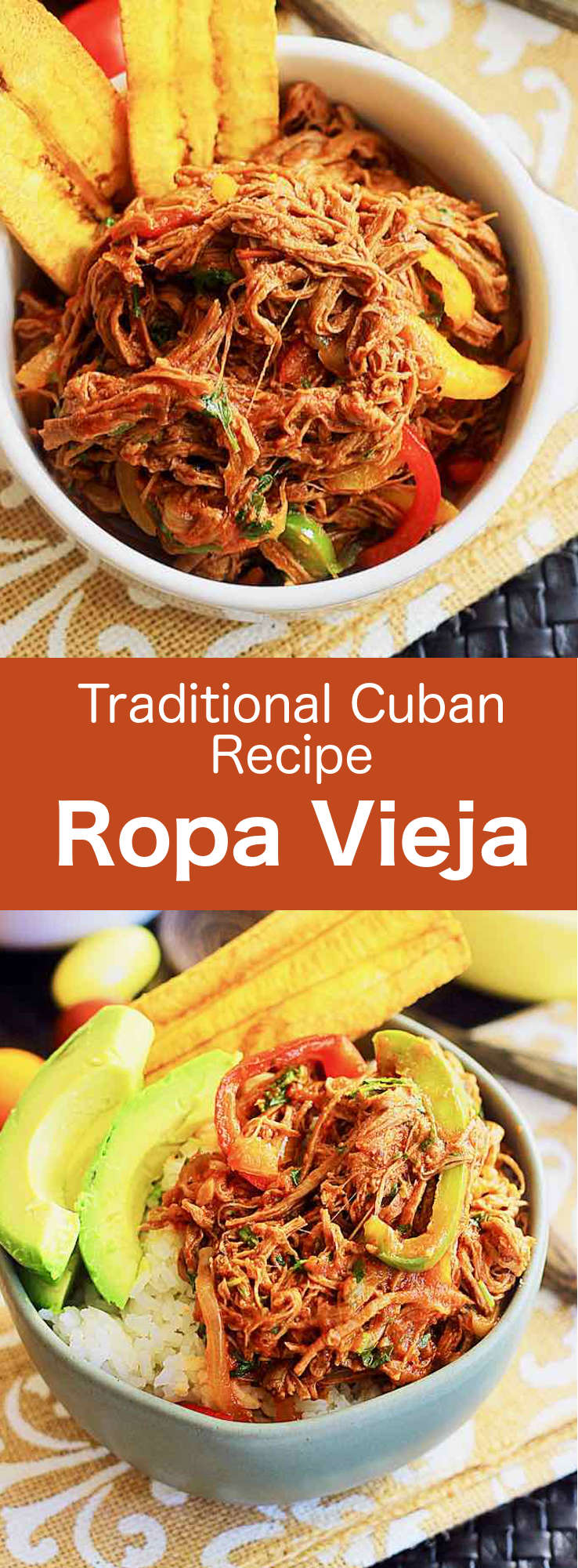 Ropa vieja which consists of shredded beef slow-cooked with vegetables, is one of the national dishes of Cuba and is popular throughout Latin America. #Cuba #Cocktail #CubanRecipe #CubanDrink #Caribbean #CaribbeanDrink #WorldCuisine #196flavors