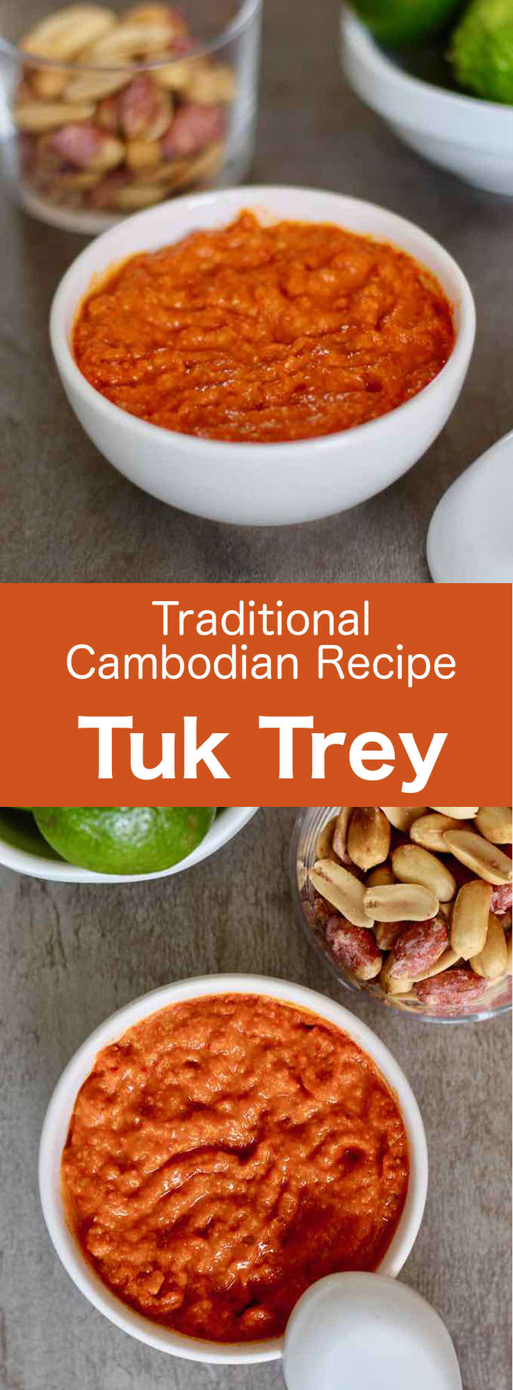 Tuk trey is a Cambodian sauce made from fish sauce, which can be prepared in different ways according to taste. It often complements traditional Cambodian recipes. #Cambodian #CambodianRecipe #CambodianCuisine #AsianCuisine #AsianRecipe #WorldCuisine #196flavors