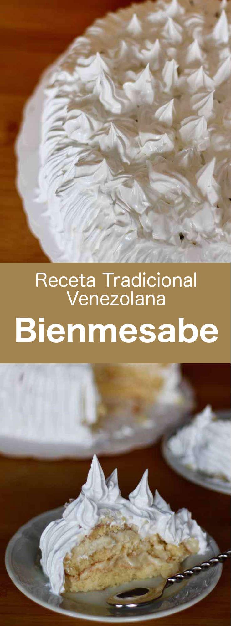 El bienmesabe es una deliciosa torta tradicional venezolana preparada con crema de huevo y jerez, a base de coco.