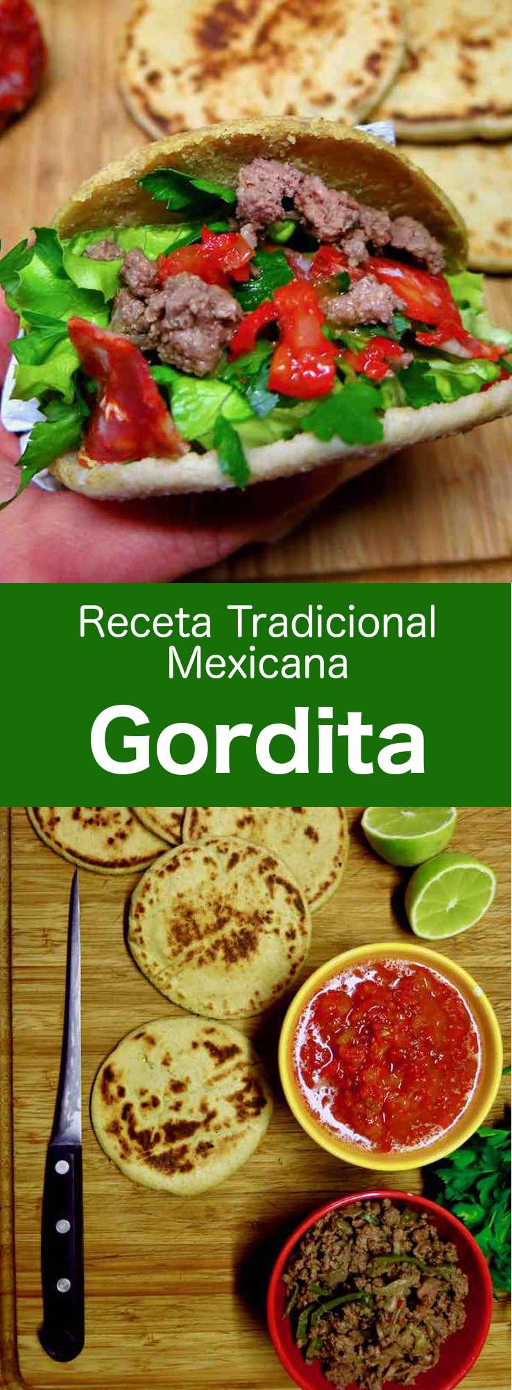 Las gorditas son pequeñas tortilla de maíz gruesas, cortadas por la mitad y rellenas con varios guisos. #Mexico #RecetaMexicana #196flavors