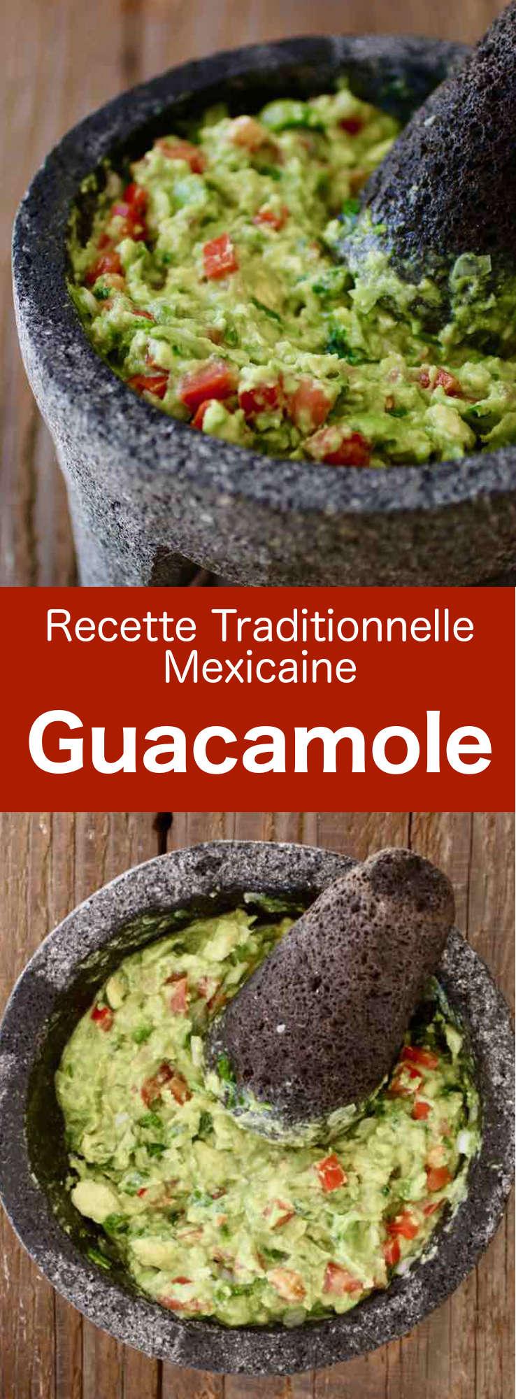 Le guacamole est une délicieuse préparation mexicaine à base d'avocat, d'oignon, de piment frais, de coriandre fraîche, de tomate, et de citron vert. #Mexique #RecetteMexicaine #CuisineDuMonde #196flavors