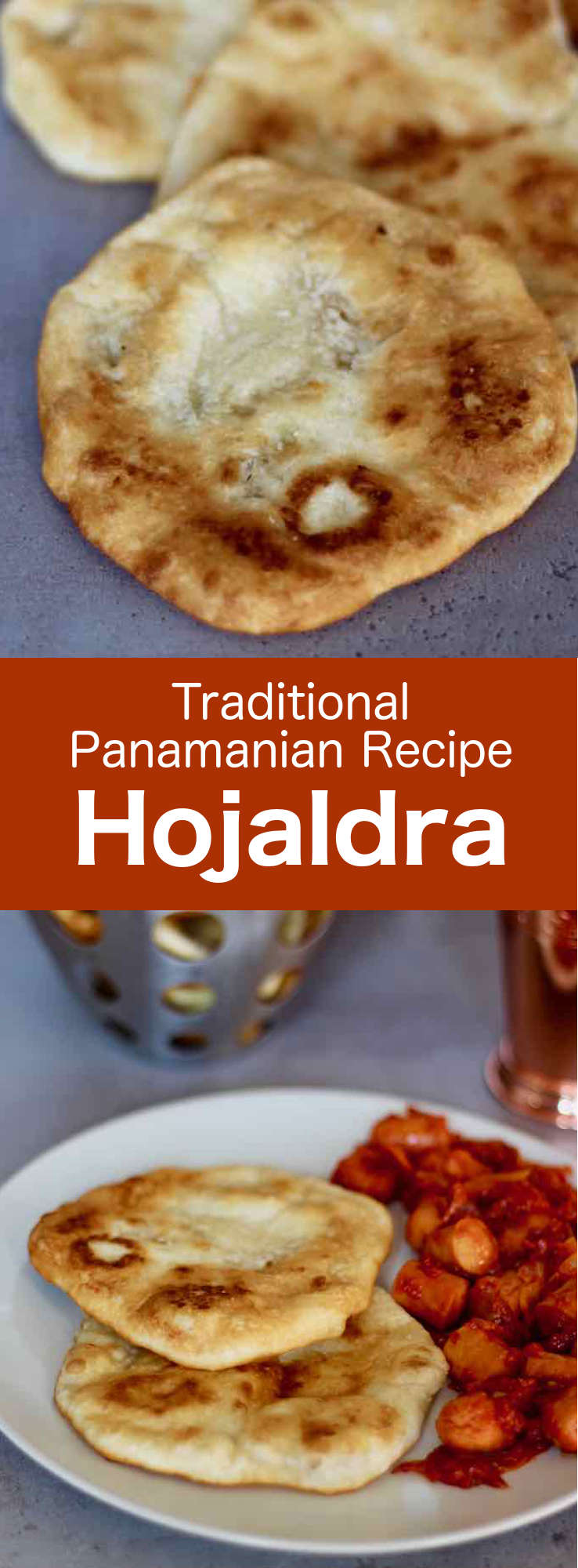 Hojaldres, also known as hojaldras or hojaldas, are delicious Panamanian traditional round fried flat rolls that are also popular in Uruguay and Colombia. #Panama #CentralAmericanCuisine #CentralAmericanRecipe #PanamaCuisine #PanamaRecipe #WorldCuisine #196flavors