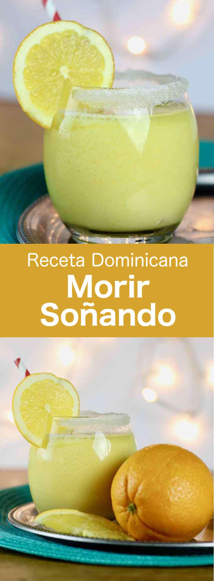Morir soñando es una bebida tradicional dominicana preparada con jugo de naranja fresco, azúcar de caña, leche y hielo picado. #RepublicaDominicana #196flavors