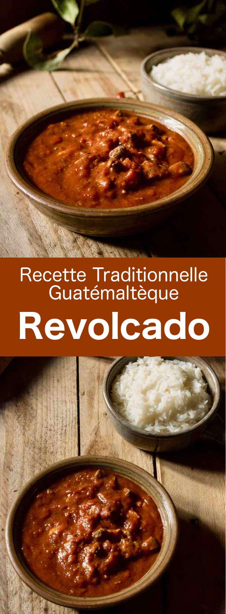 Le revolcado est un succulent plat guatémaltèque qui se prépare avec de la tête de porc et des abats, cuits dans une sauce épicée à base de tomates. #Guatemala #CuisineGuatemalteque #AmeriqueCentrale #CuisineDuMonde #196flavors